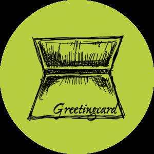 Schokocards Greetingcard Green