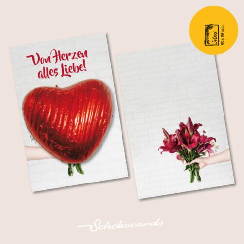 Schokocards Mini Shop Blumen für Dich