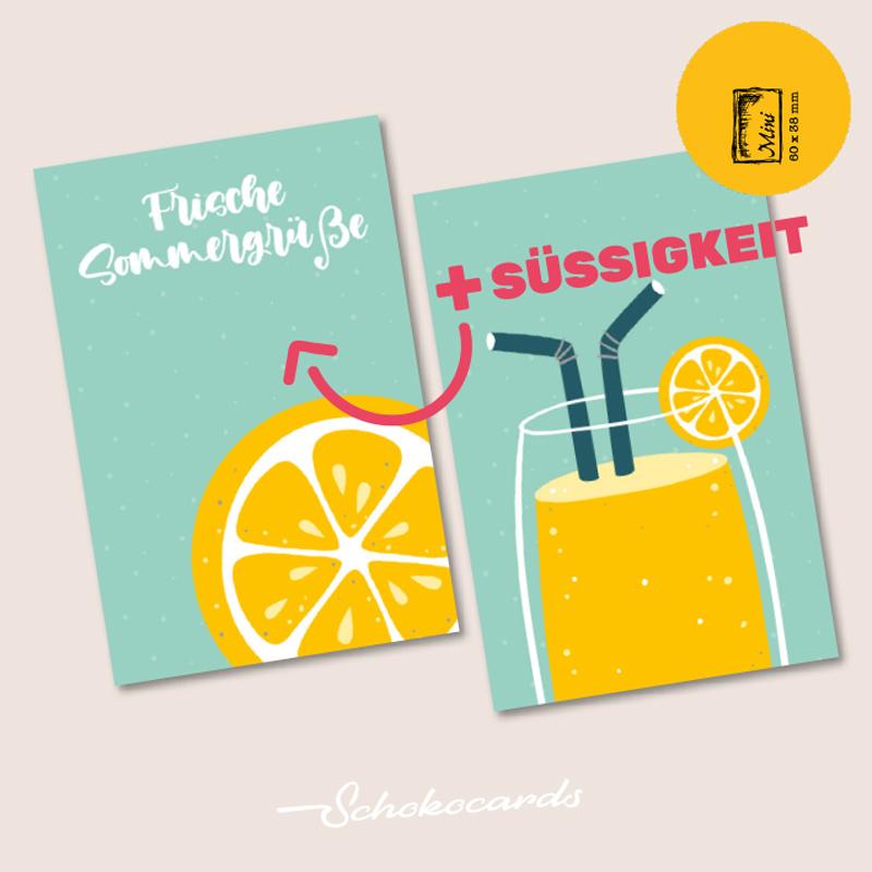 Schokocards Mini Shop Durstlöscher