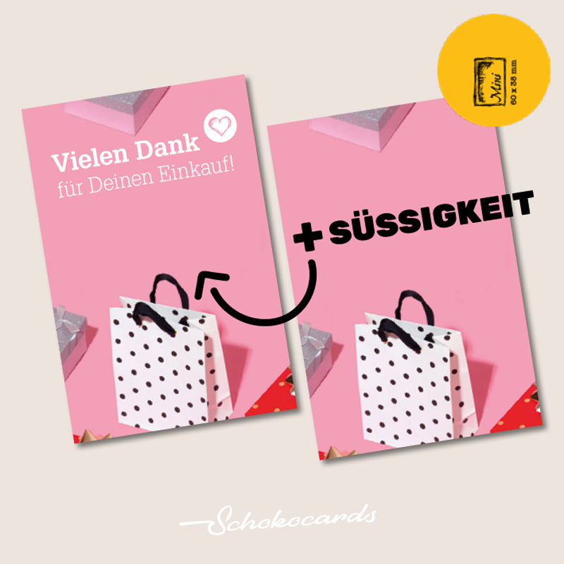 Schokocards Mini Shop Einkauf Ritter Sport