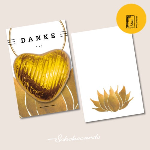 Schokocards Mini Shop Gold Herz
