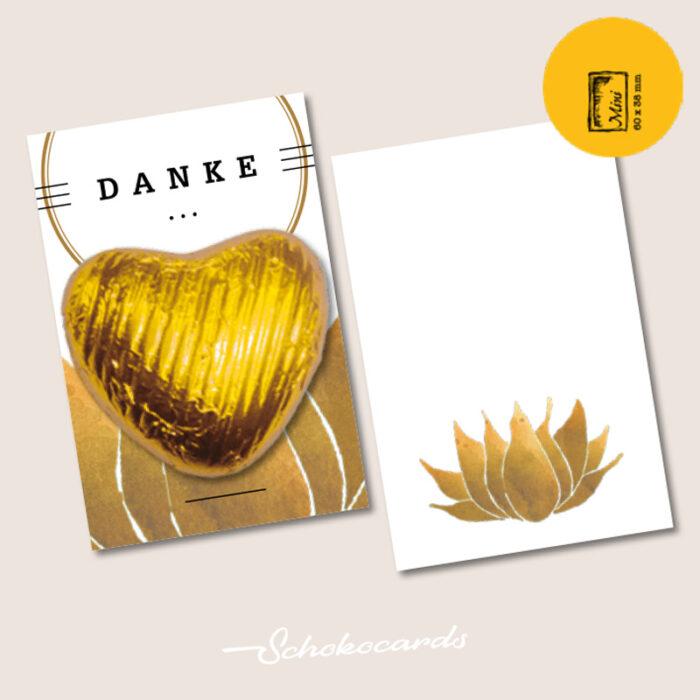 Schokocards Mini Shop Gold Herz