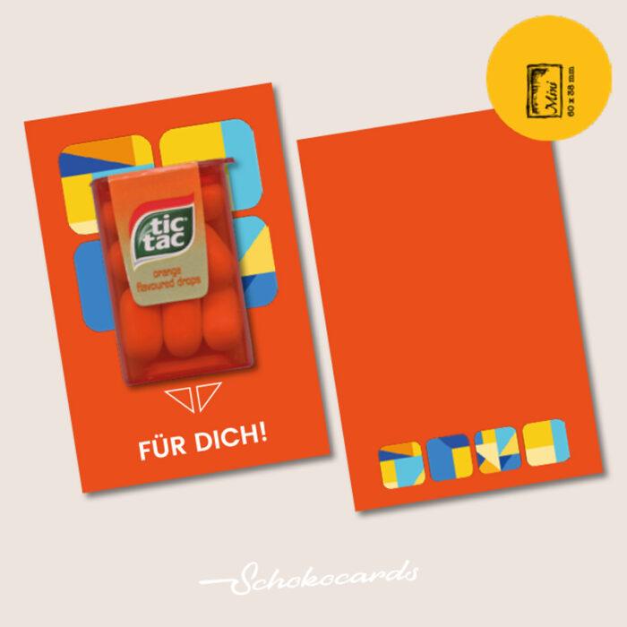 Schokocards Mini Shop Orange tictac