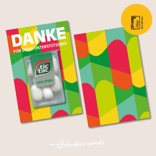 Schokocards Mini Shop Retro tictac