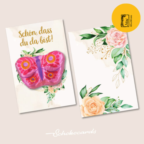 Schokocards Mini Shop Romantische Blumen