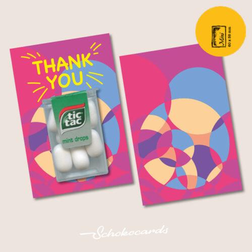 Schokocards Mini Shop Thank tictac