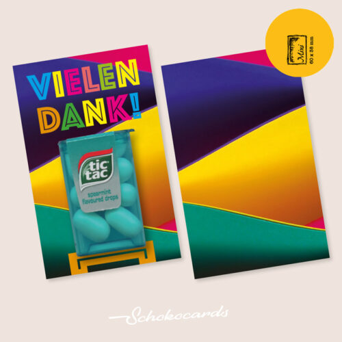 Schokocards designte Karte Mini Card Shop Frisches Dankeschoen