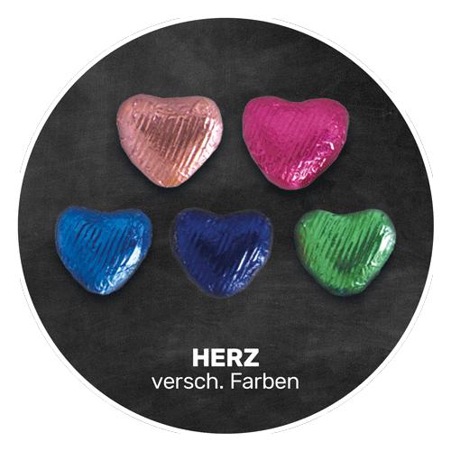 Himmlisch schokoladig | HERZ in verschiedenen Farben | Firma Storz