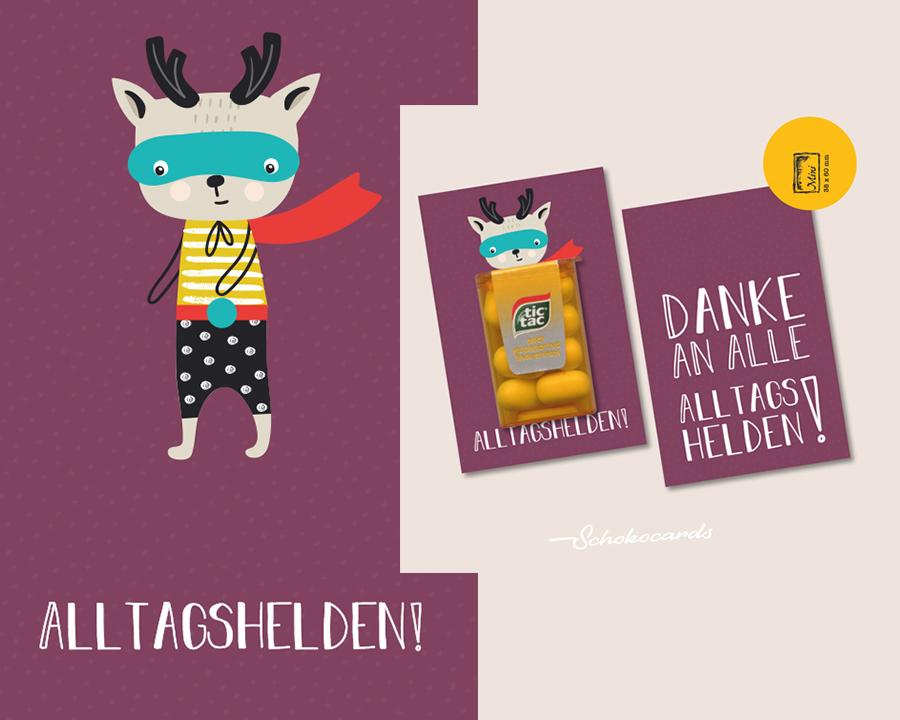 Schokocards Shop Neue Karten Helden Edition