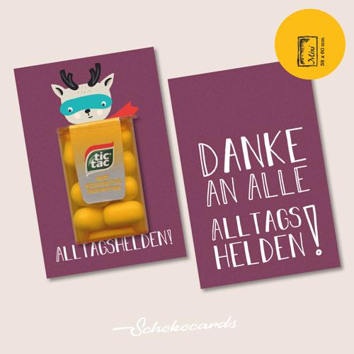 Schokocards Mini Shop Alltagshelden mit Tic Tac