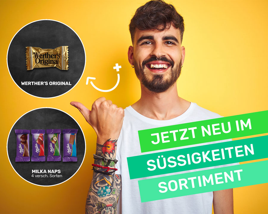 Schokocards Blog Neu im Süßigkeiten-Sortiment Werther's und Milka Naps