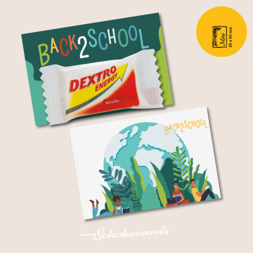 Schokocards Mini Shop Back 2 School mit Dextro