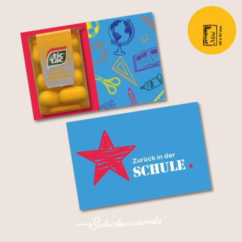 Schokocards Mini Shop Zurück in der Schule mit Tic Tac