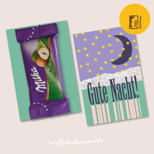Schokocards Mini Shop Gute Nacht mit Milka Naps