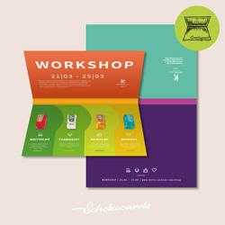 Schokocards GREETINGCARD Beispiel | 210 x 297 mm | gefalzt | Design & Süßigkeit nach Wunsch | Mindestbestellmenge 50 Stück