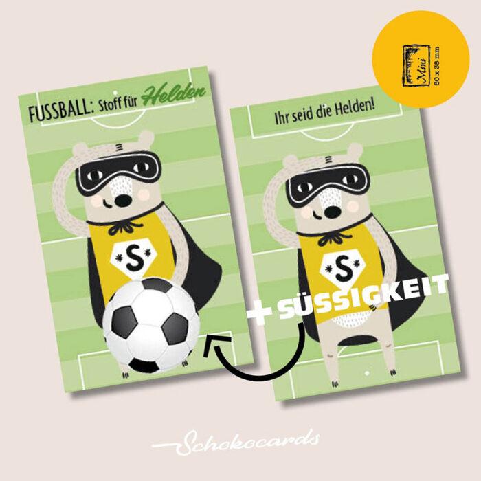 Schokocards Mini Shop Fußball Helden
