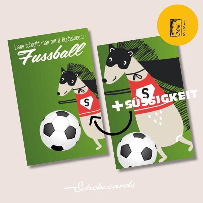 Schokocards Mini Shop Fußball Liebe