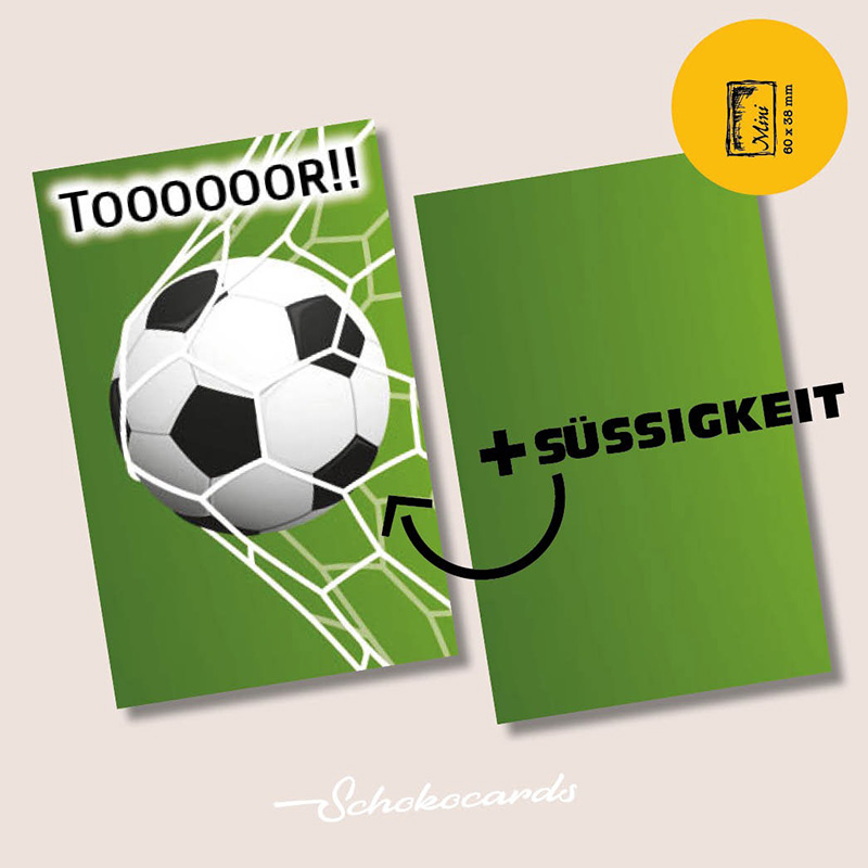 Schokocards Mini Shop Fußball Tooor