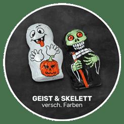 Himmlisch schokoladig | GEIST und SKELETT in verschiedenen Farben | Firma Storz