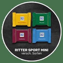 Himmlisch schokoladig | original RITTER SPORT MINI in verschiedenen Geschmacksrichtungen