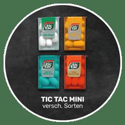Erfrischend | original TIC TAC MINI in verschiedenen Geschmacksrichtungen