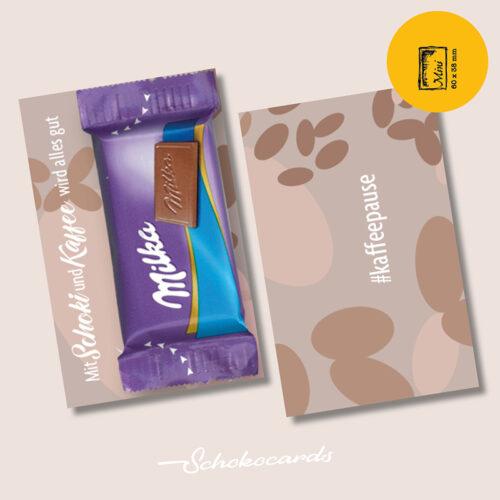 Schokocards Mini Wachmacher mit Milka Naps