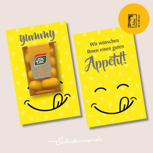 Schokocards Mini yummy in my tummy mit Tic Tac