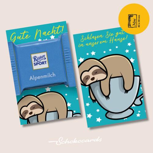 Schokocards Mini Zweifingerschläfer mit Ritter Sport Schokolade